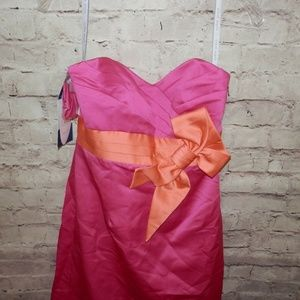 NEW Alfred Angelo Sz 4 Bow Strapless Cocktail Dres